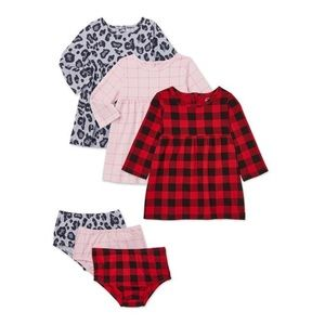 Wonder Nation Knit Play Dress & Diaper Cover